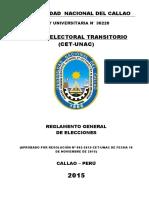 Reglamento General de Elecciones UNAC - CET 16.11.2015