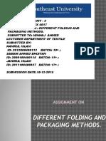 Folding &Packaging