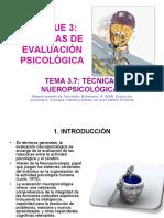 TECNICAS DE EVALUACIÓN NEUROPSICOLÓGICAS