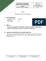 Syllabus Desarrollo de Software III 2015 II