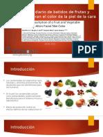Consumo Diario de Batidos de Frutas y Verduras Alteran El Color de La Piel Facial