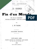 Les Signes de La Fin d'Un Monde - Jacques Bainville
