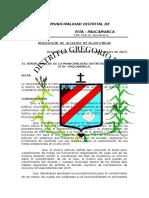 Resolución De Alcaldia