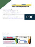 Geometrical Interpretation of the Simultaneous Diagonalization of Two Quadratic Forms
