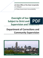 Comptroller's Audit of NY Sex Offender Oversight
