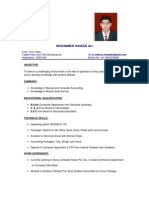 Resume for Accounts Executive - Mr.Sheroz
