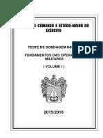 Volume i - Fundamentos Das OperaÇÕes Militares 2015-2016