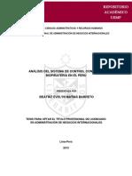 Analisis Del Sistema de Control Contra La Biopirateria en El Peru