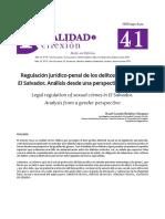 Regulacion Juridico Penal de Los Delitos Sexuales El Salvador