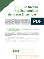 Chapitre 1 - Le Niveau de l'Activité Economique Dans Son Ensemble