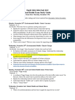 BioHealth Exam III Study Guide