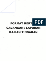 Format Kertas Cadangan Laporan Kajian Tindakan
