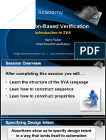 Course Assertion-based Verification Session3 Introduction to Systemverilog Assertions Hfoster
