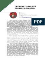 Tingkatkan Kualitas Ekspor Perikanan Kepulauan Riau