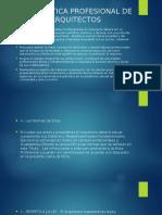 Carta de Etica Profesional de Los Arquitectos