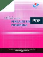 Cover Pedoman Penilaian Kinerja Puskesmas