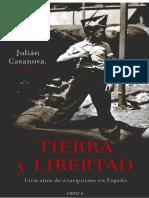 Casanova - Tierra y Libertad. Cien Años de Anarquismo en España Subrayado