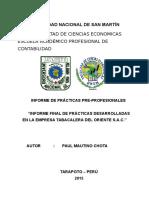 Informe Final de Practicas Tabacalera