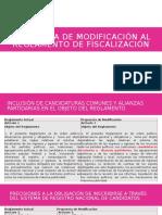 Propuesta de Modificación Al Reglamento de Fiscalización Versión PP