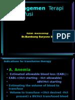 Transfusi - Dr. B