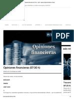15 - 12 - 15 Opiniones Financieras (07_30 h) ‹ ADN – Agencia Digital de Noticias Sureste