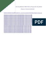 Población INE Actualización 2002 2012 Proyección 2013 2020