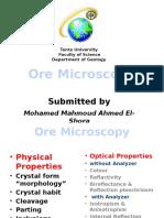 Ore Microscopy - Tanta Univ.