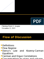 Fluid flow in porous media