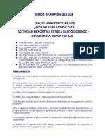 Reglamento de Futbol 2013