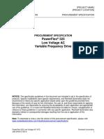 Especificacion de Proyecto para PowerFlex 525