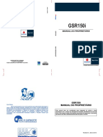 Manual de Proprietário Suzuki GSR150i