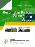 Kecamatan Kintom Dalam Angka 2012