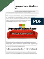 20 Programas Para Hacer Windows Más Cómodo