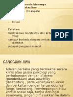 Klasifikasi Gangguan Jiwa 1