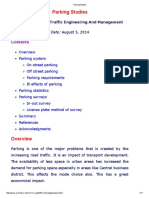 Parking Studies by Dr. Tom IIT Bombay