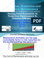 Moving From Preventive to Predictive Maintenance to Enhance Efficiency