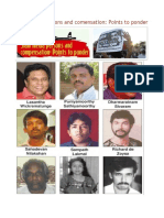 Slain Media Persons and Comensation Points to Ponder