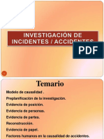 Investigacion de Incidentes y Accidentes