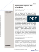 Expert Opinion on Pharmacotherapy Volume 9 Issue 1 2008 [Doi 10.1517%2F14656566.9.1.23] Nicolau, David P -- Carbapenems- A Potent Class of Antibiotics