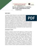 Determinación de Carotenoides y Clorofila en Frutos de Cuatro Variedades de Chile