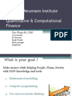 Quantitative Computational Finance studies syllabus