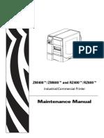 Guía de Partes para impresora de etiquetas Zebra ZM600