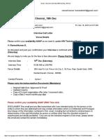 Interview Call Letter IBM Chennai_19th Dec