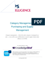 Category Management in Purchasing and Supply Management