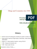 Drug & Cosmetic Act 1940
