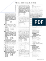 Bank of India Clerical Solved Paper 2010