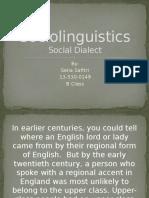 Sociolinguistics Finished
