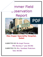 Angel Summer Field Report ( Max Hospital)