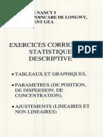 Exercices de Statique. Descriptive