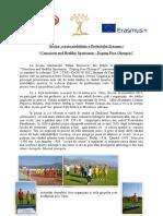 "Grecia- a treia mobilitate a Proiectului Erasmus+ ""Conscious and Healthy Sportsmen - Doping Free Olympics"""